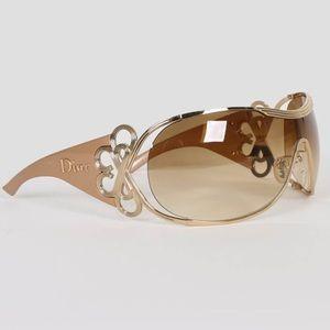 Christian Dior Diori Oversized Gold Sunglasses